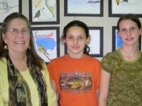 Pictured left to right are Sandra Sterrenberg, Brianna and Leah Anderson.