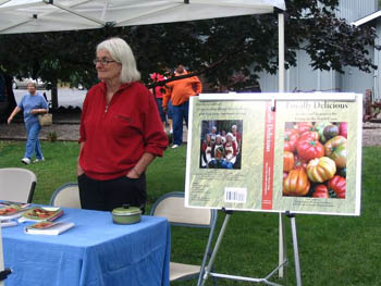 """One of the many Taste of Willow Creek vendors was author Suzanne Simpson with a book signing of her book, """"Locally Delicious"""". / Photo by Mediha Saliba."""