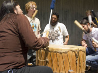 """There is something about the drum that certainly brings all our collective energies together to be cast out to the people,"" Lonyx Landry said."
