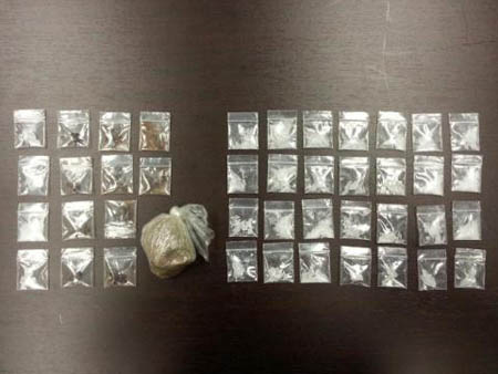 Packaged heroin and meth was discovered during a vehicle investigation at Tish Tang Campground in Hoopa.