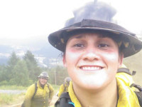 Women firefighters are very common to see in the firefighting world, not just as office personal but out on the firelines, in engines and on hand crews. Felicia Luna is optimistic about growing her career. She's working toward promotions and soaking up all the fire knowledge available to her./Photo courtesy of Felicia Luna