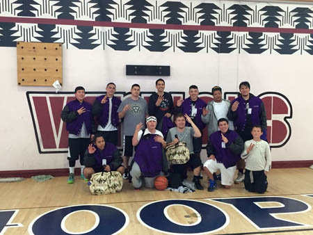 "3 Tribes, a basketball team comprised of mostly local men from the Hoopa, Yurok and Karuk Tribes, defeated defending Hoopa All-Indian Basketball Tournament champions Dry Creek. The team plans to travel to Chiloquin, Oregon this coming weekend to ""continue their rein of tenacious defense and excellent teamwork.""/Photo courtesy of Jason Reed, 3 Tribes."