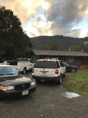 Humboldt County Sheriff's Office deputies were out in force in Hoopa today (Monday, November 13). Scanner traffic indicates they've made multiple traffic stops today and served one search warrant at a residence on Moon Lane./Two Rivers Tribune.